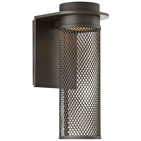 "dweLED Mesh 15"" High Bronze LED Outdoor Wall Light"