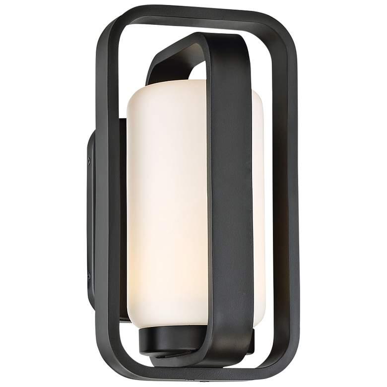 """dweLED Vertigo 12"""" High Black LED Outdoor Wall Light"""