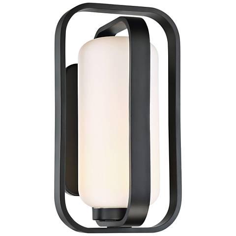 """dweLED Vertigo 16"""" High Black LED Outdoor Wall Light"""
