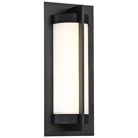 "dweLED Oberon 14"" High Black LED Outdoor Wall Light"