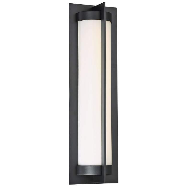 "dweLED Oberon 20"" High Black LED Outdoor Wall Light"