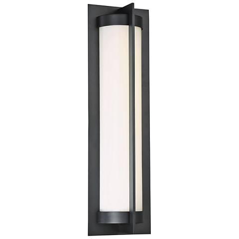 "dweLED Oberon 20"" High Black LED Outdoor Wall Light"
