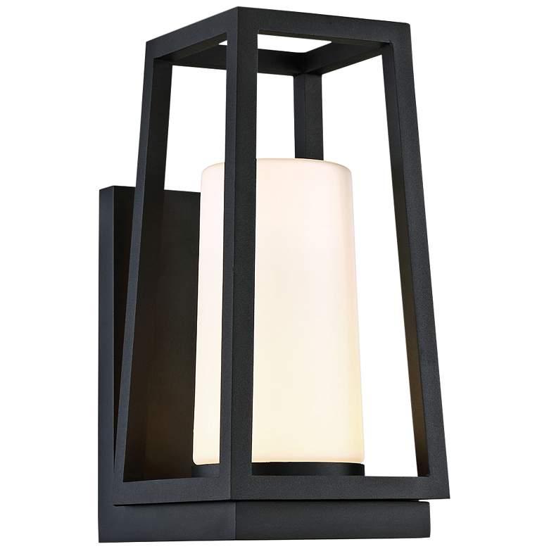 "dweLED Hurricane 14"" High Black LED Outdoor Wall Light"