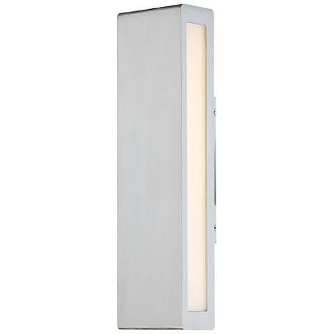 "dweLED Verve 14"" High Brushed Aluminum LED Outdoor Wall Light"