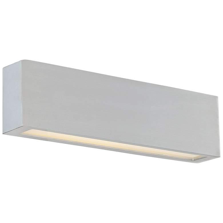 "dweLED Verve 26"" High Brushed Aluminum LED Outdoor Wall Light"