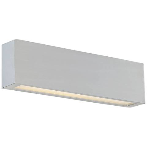 "dweLED Verve 26"" High Brushed Aluminum LED Outdoor Wall Light"