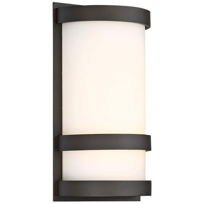 "dweLED Latitude 10"" High Bronze LED Outdoor Wall Light"
