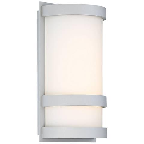 "dweLED Latitude 10"" High Titanium LED Outdoor Wall Light"
