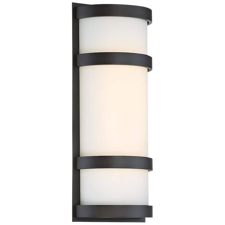 "dweLED Latitude 14"" High Bronze LED Outdoor Wall Light"