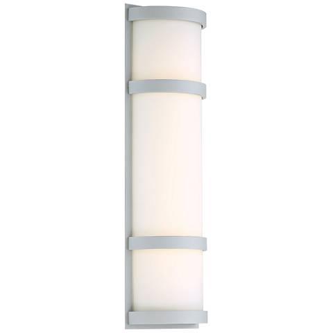"dweLED Latitude 20"" High Titanium LED Outdoor Wall Light"