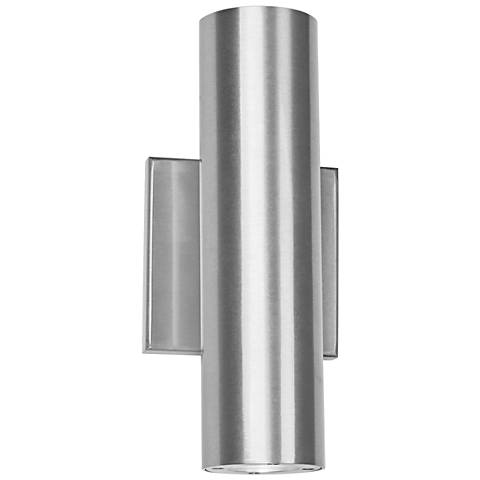 "dweLED Caliber 10"" High Brushed Aluminum LED Outdoor Wall Light"
