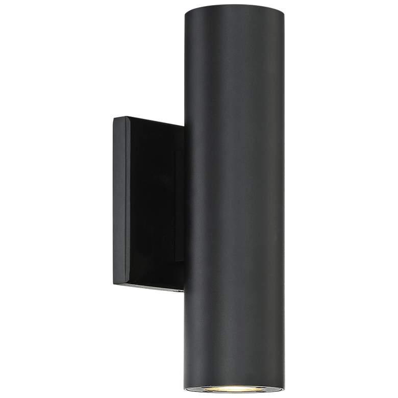 "dweLED Caliber 10"" High Black LED Outdoor Wall Light"