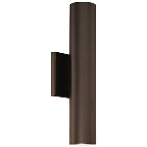 "dweLED Caliber 14"" High Bronze 2-Light LED Outdoor Wall Light"