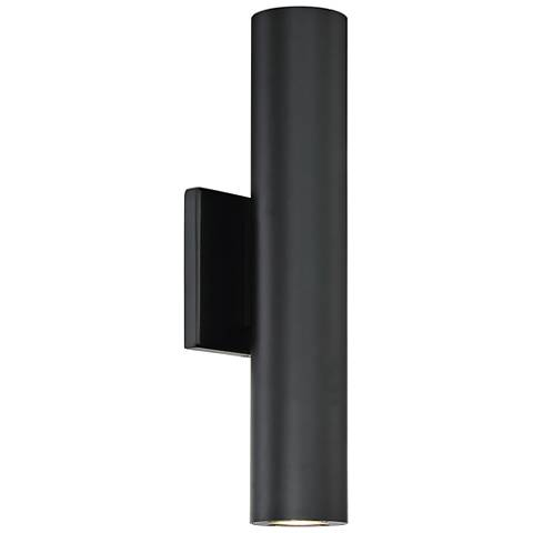 "dweLED Caliber 14"" High Black 2-Light LED Outdoor Wall Light"