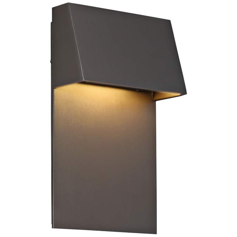 "dweLED Zealous 10"" High Bronze LED Outdoor Wall Light"