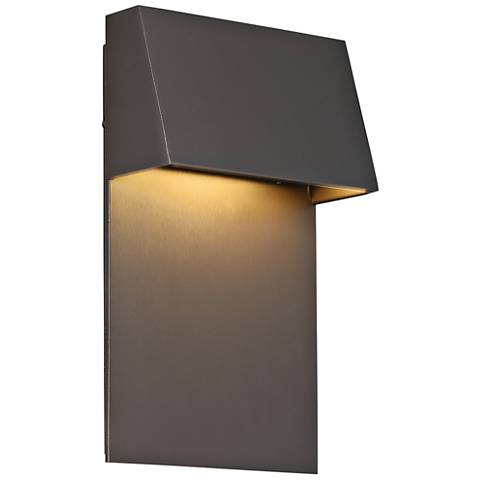 "dweLED Zealous 10"" High Bronze LED Outdoor Wall Light"