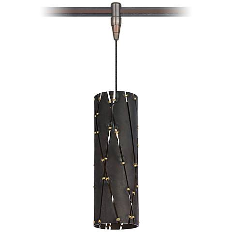 "Crossroads 3 1/2""W Lacquer Steel LED Monorail Mini Pendant"