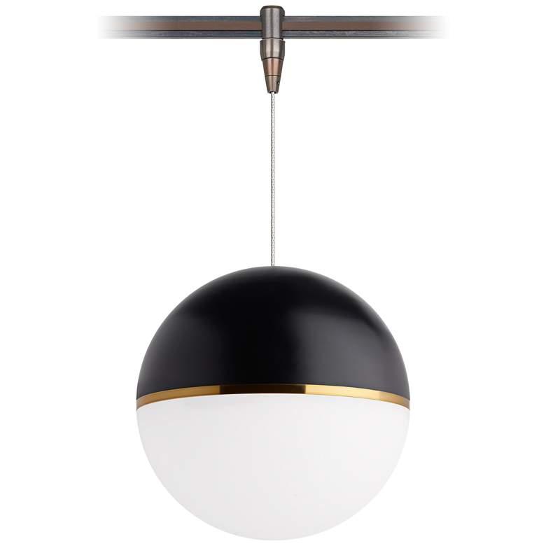 """Akova 7""""W Matt Black and Bronze LED Monorail Mini Pendant"""