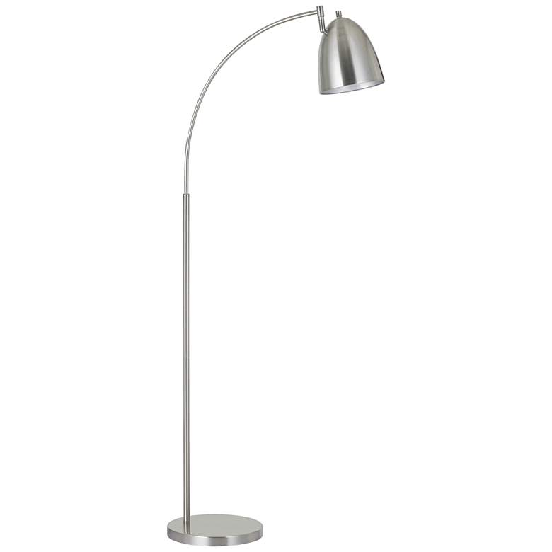 Garnett Brushed Steel Metal Arc Floor Lamp