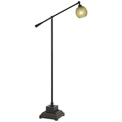 Brandon dark bronze metal balance arm floor lamp 41x59 lamps plus brandon dark bronze metal balance arm floor lamp aloadofball Images