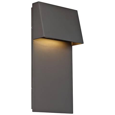 "dweLED Zealous 14"" High Bronze LED Outdoor Wall Light"