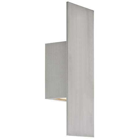"""dweLED Icon 14"""" High Brushed Aluminum LED Outdoor Wall Light"""