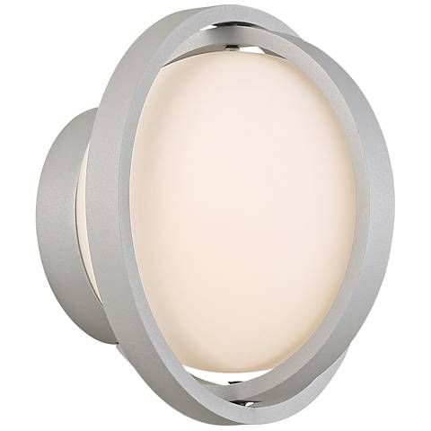 """dweLED Axis 7"""" High Titanium LED Outdoor Wall Light"""