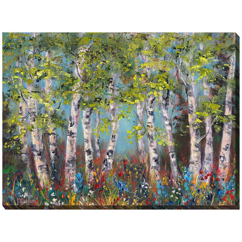 """Wildflower Grove 40""""W All-Weather Outdoor Canvas Wall Art"""