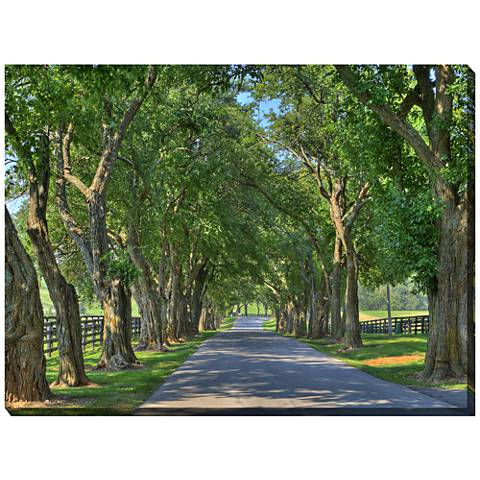 """Country Lane 40"""" Wide All-Weather Outdoor Canvas Wall Art"""
