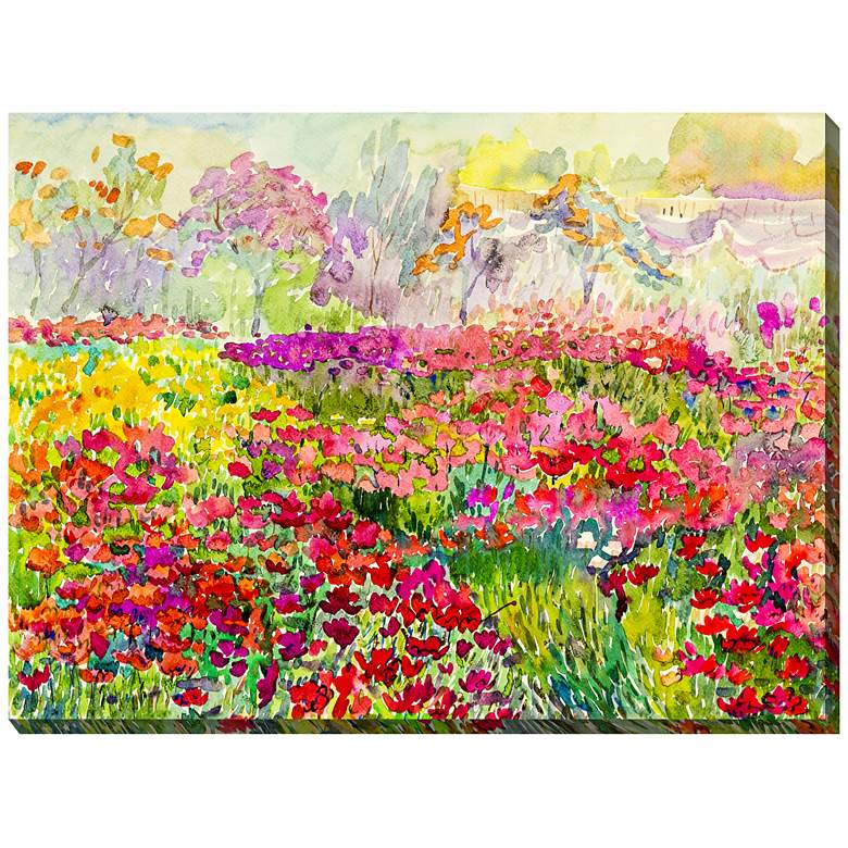 Field Of Color 40 Wide All Weather Outdoor Canvas Wall Art