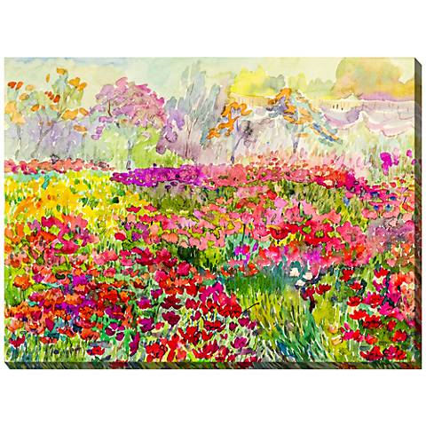 "Field of Color 40"" Wide All-Weather Outdoor Canvas Wall Art"