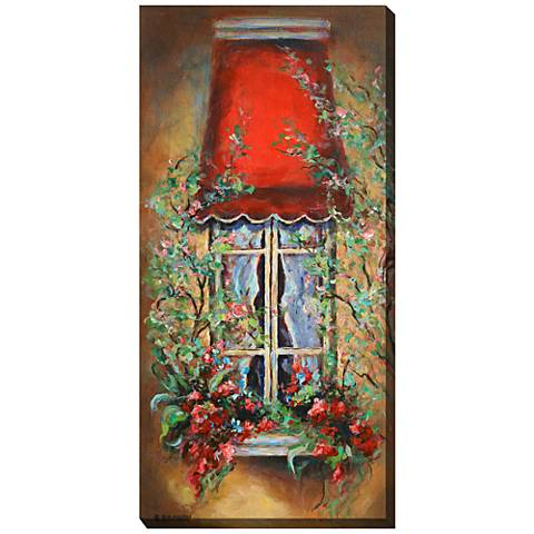 "Red Canopy 48""H All-Weather Indoor-Outdoor Canvas Wall Art"