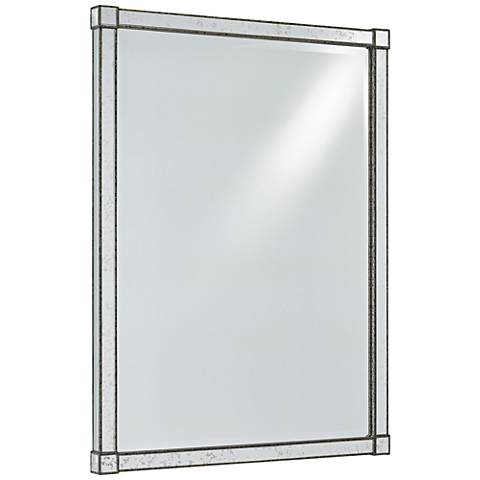 "Monarch Silver Viejo and Light Antique 30"" x 40"" Wall Mirror"