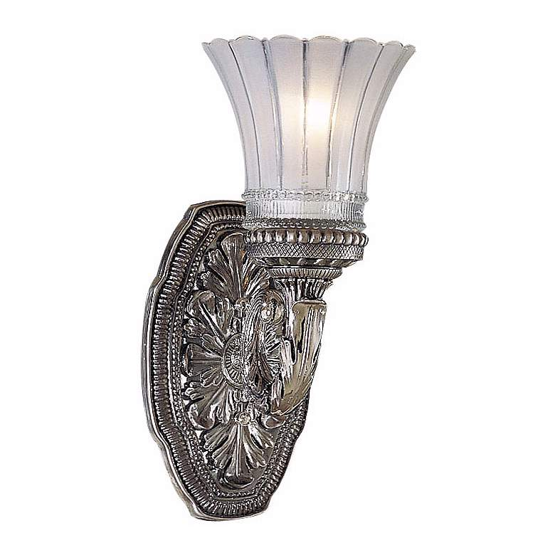 "Europa Collection 11 1/4"" High Brushed Nickel Wall Sconce"