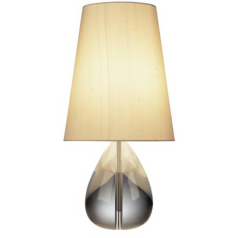 Jonathan Adler Crystal Tear-Drop Lamp with Oyster Shade