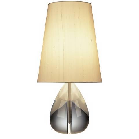 Jonathan Adler Crystal Teardrop Lamp With Oyster Shade