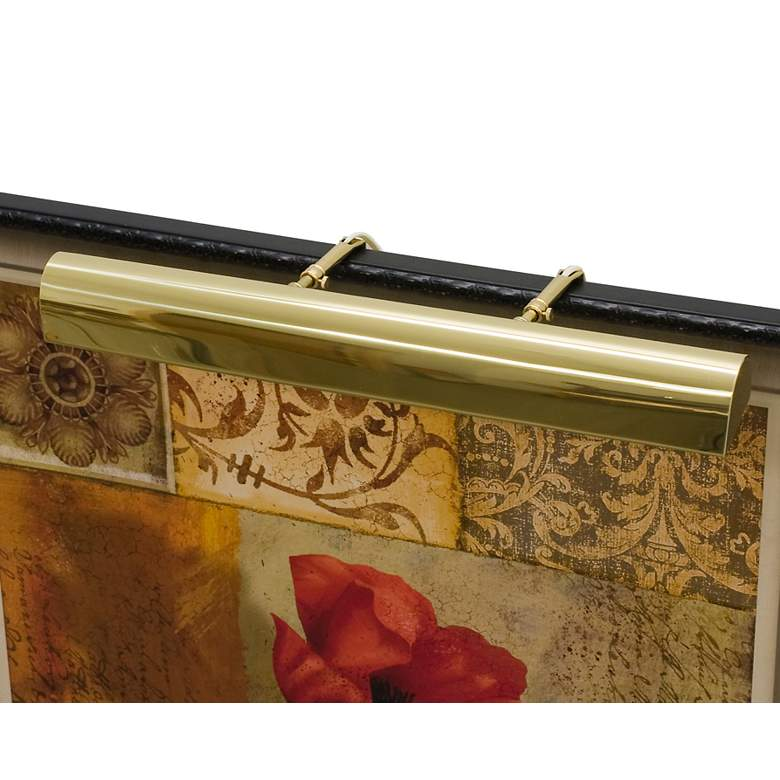 """Classic Traditional 24"""" Wide Polished Brass Picture Light"""