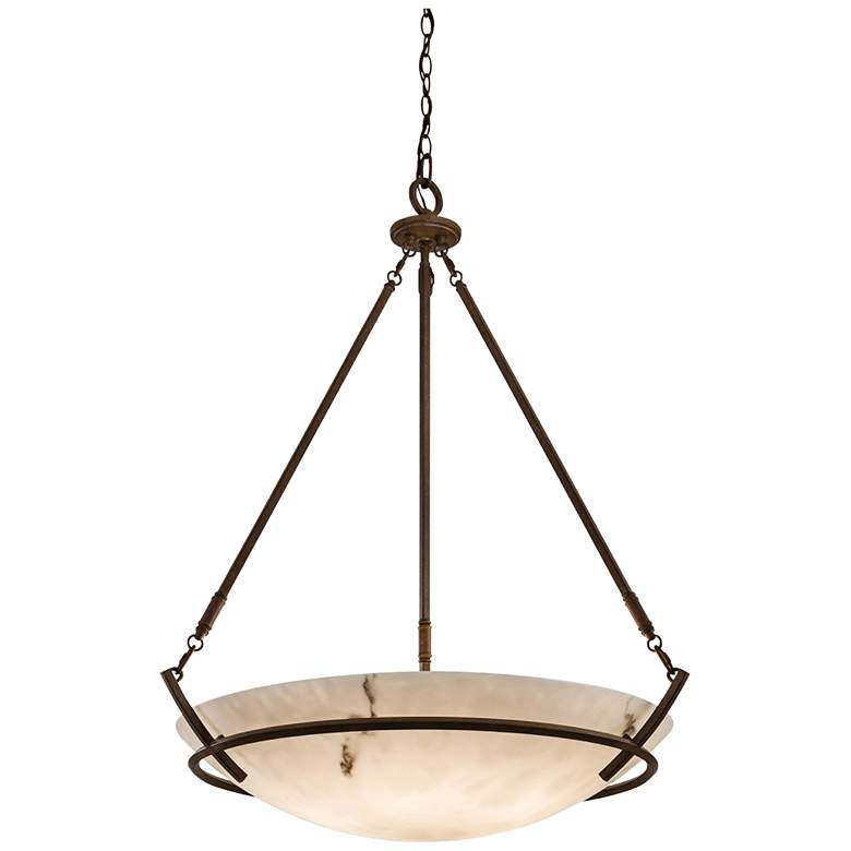 "Calavera Collection 33"" Wide Five Light Pendant Chandelier"