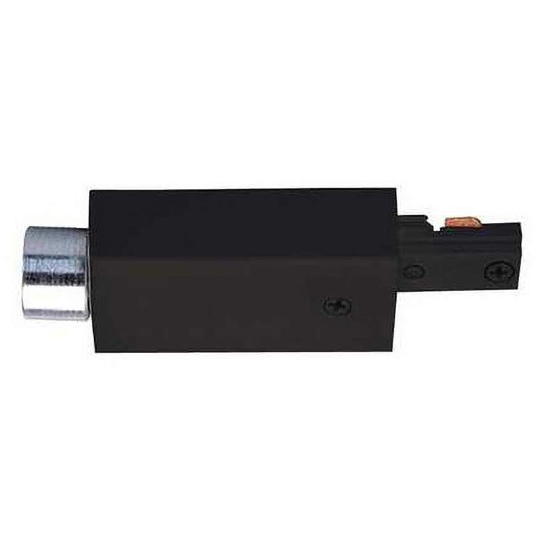 Juno Black Surface Conduit Electrical End Feed