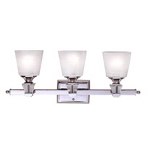 "Deluxe Collection 25 1/2"" Wide Three Light Bathroom Fixture"