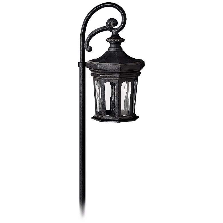 "Hinkley Raley 22"" High Museum Black Low Voltage Path Light"
