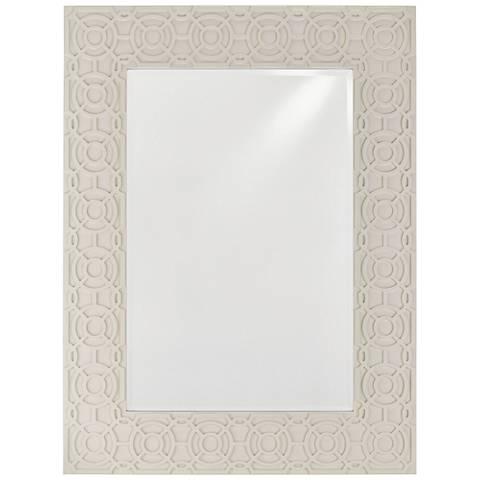 "Alisa Marshmallow 34 1/2"" x 45 3/4"" Rectangular Wall Mirror"