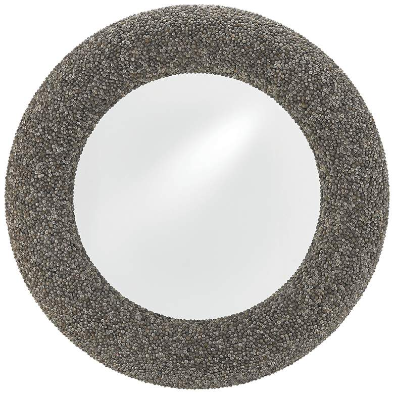 "Batad Shell Natural 42 1/2"" Round Oversized Wall Mirror"