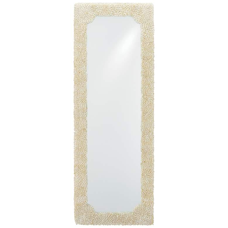 """Leena Natural Clam Rose Shells 19"""" x 53"""" Wall Mirror"""