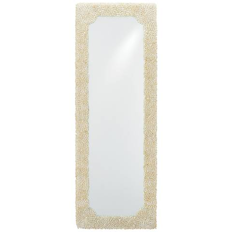 "Leena Natural Clam Rose Shells 19"" x 53"" Wall Mirror"