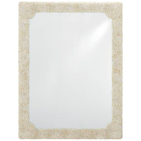 "Leena Natural Clam Rose Shells 37 1/2"" x 49"" Wall Mirror"