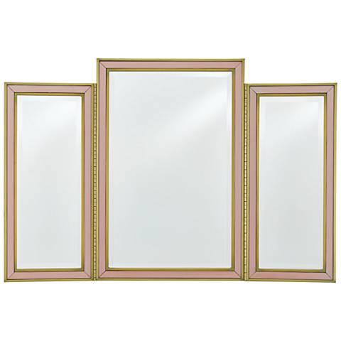 """Arden Peony w/ Satin Brass 40"""" x 27"""" Oversized Vanity Mirror"""