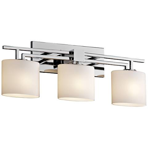 "Fusion™ Aero 26 1/2""W Polished Chrome 3-Light Bath Light"