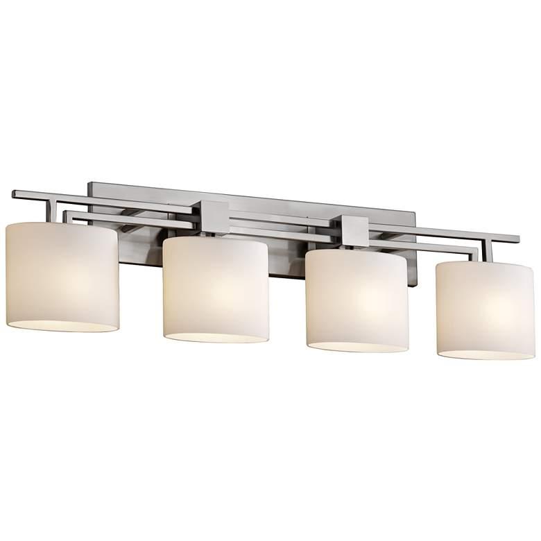 "Fusion Aero 36 1/2"" Wide Brushed Nickel 4-Light Bath Light"