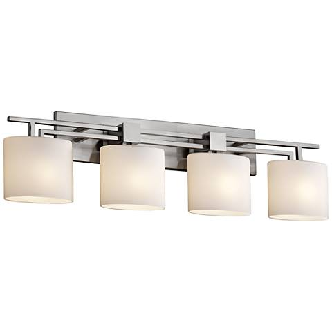 "Fusion™ Aero 36 1/2"" Wide Brushed Nickel 4-Light Bath Light"